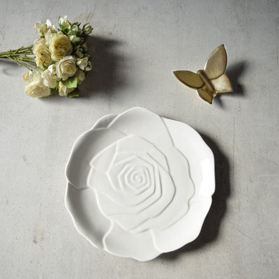 Rose Ceramic Serving Platter - Set of 2