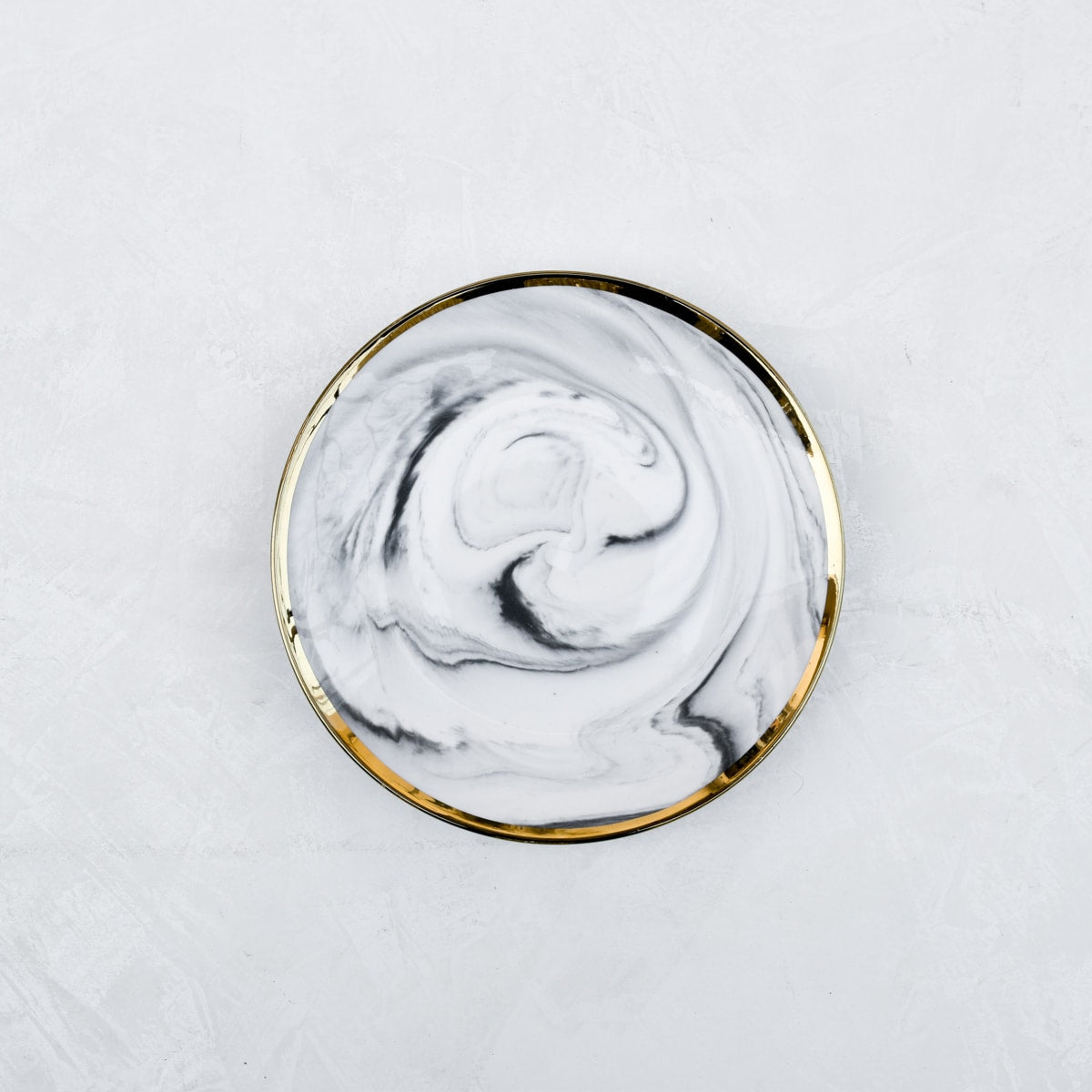 Dakota Grey Marble Swirl Side Plate - Set of 4
