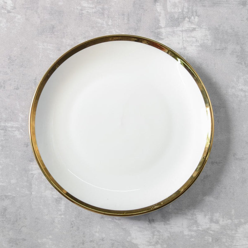 Kingsley White and Gold Side Plate - Set of 4