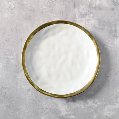 Arturo White and Gold Side Plate - Set of 4 - Home Artisan