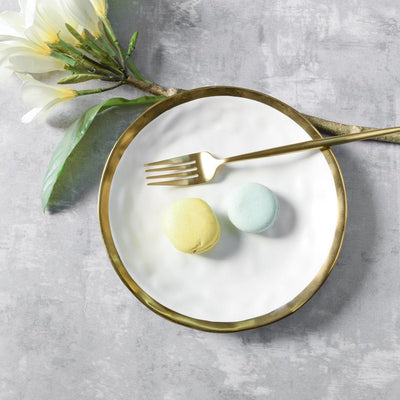 Arturo White and Gold Side Plate - Set of 4