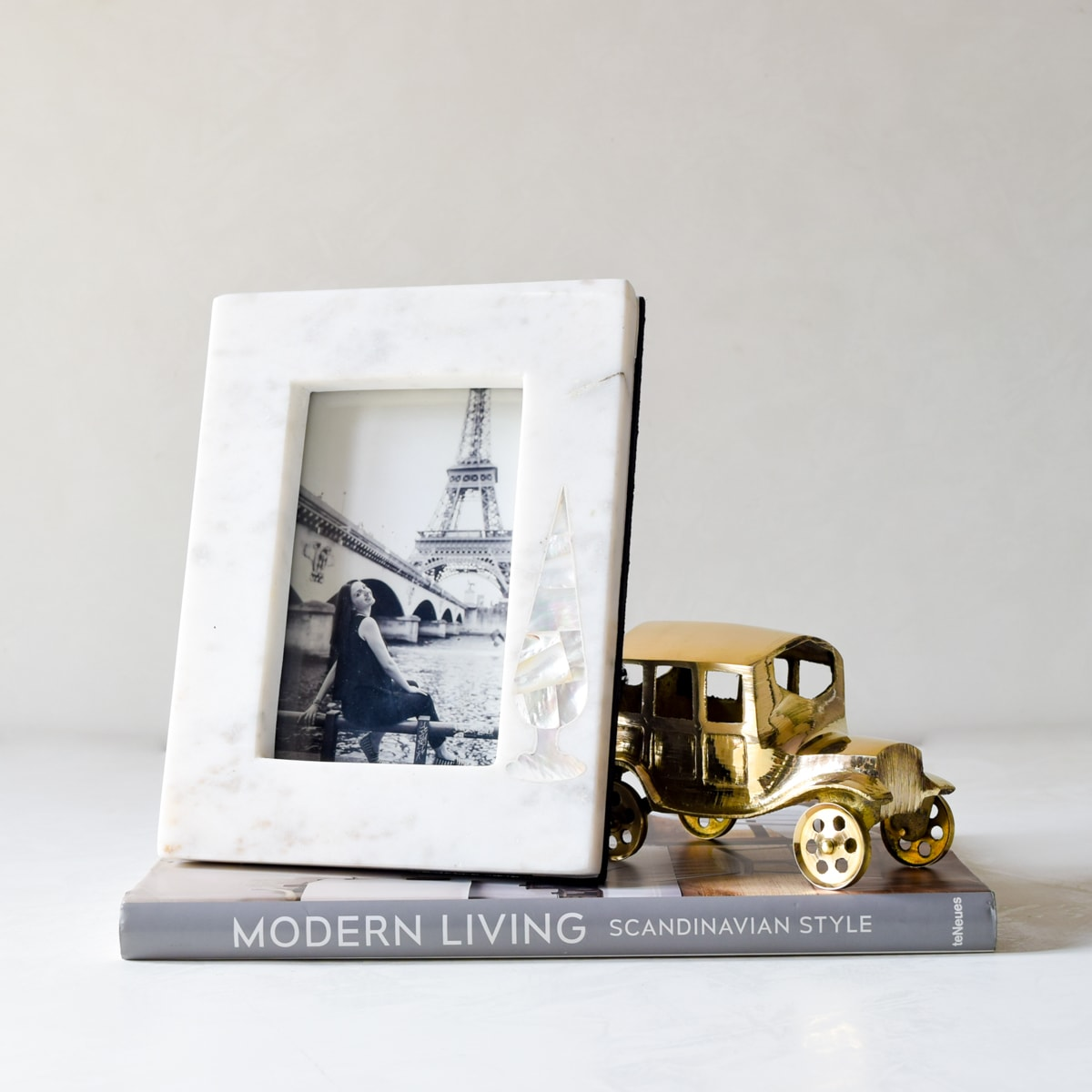 Melrose Mother of Pearl Cypress Photo Frame