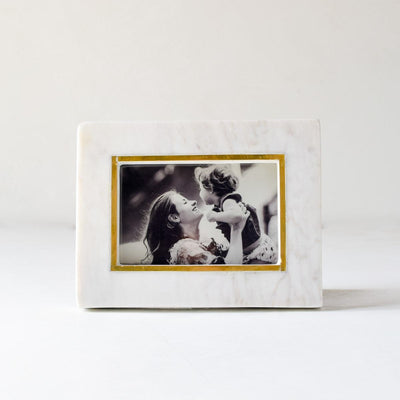 Duncan Marble and Brass Line Photo Frame - Home Artisan