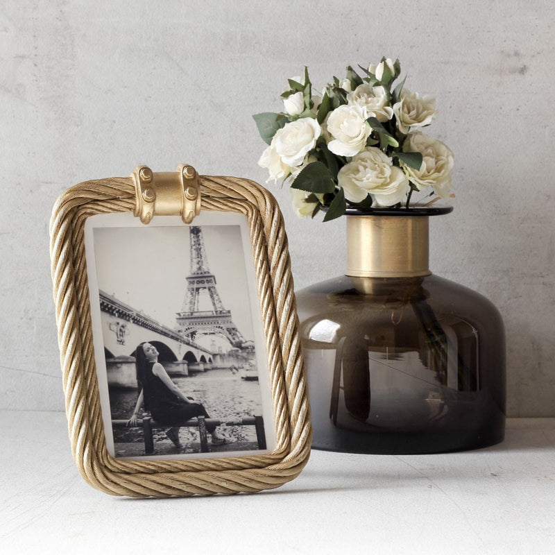 Bethany Golden Rope Photo Frame - Home Artisan