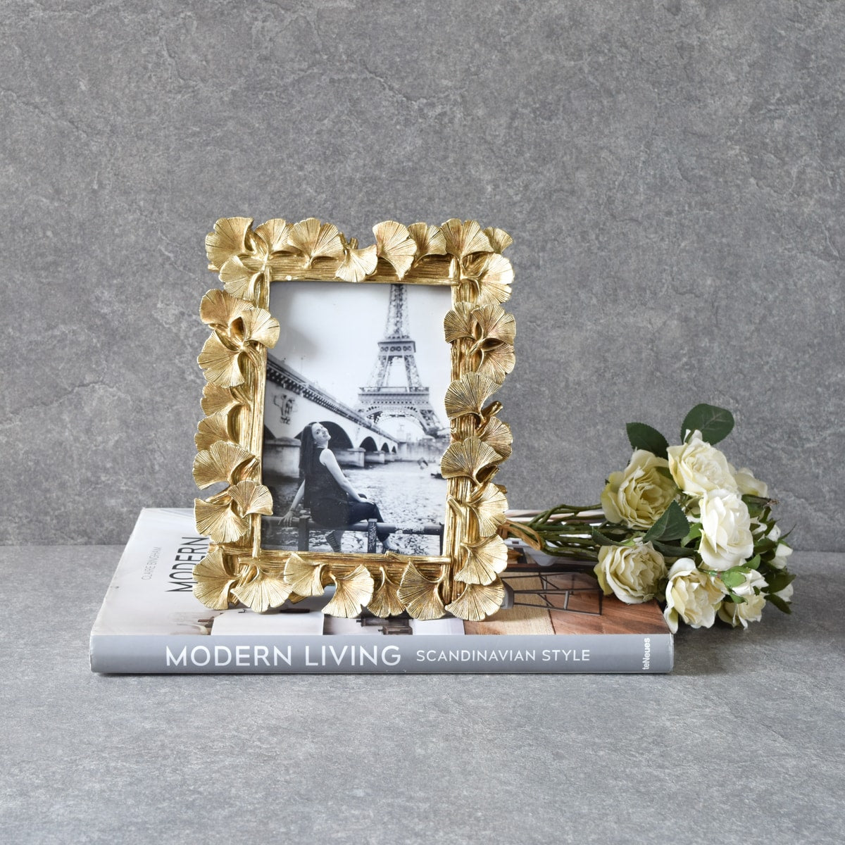 Sandra Golden Gingko Leaves Photo Frame