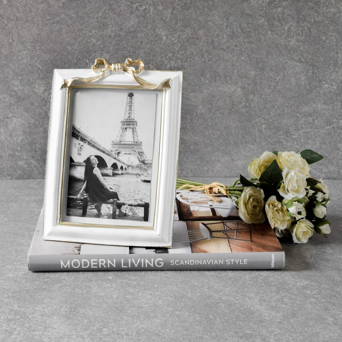 Tibithia White and Gold Photo Frame - Home Artisan