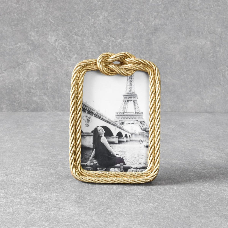 Mendell Golden Rope Photo Frame