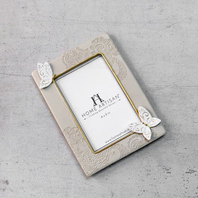 Pedra Photo Frame with Butterfly Motifs