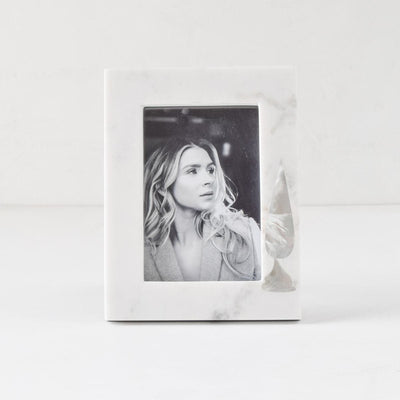 Mother of Pearl Cypress and Marble Photo Frame