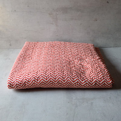 Chuck Red Chevron Print Quilt - Home Artisan