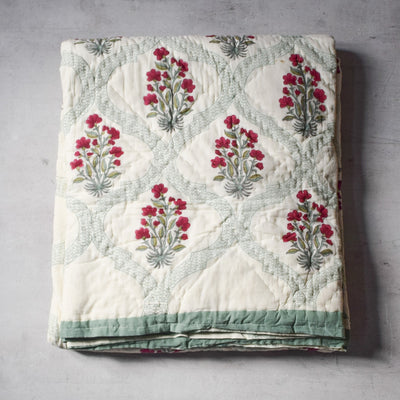 Indian Summer Handblock Printed Quilt