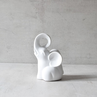 Cooper White Elephant Sculpture (Set of 2) - Home Artisan_2