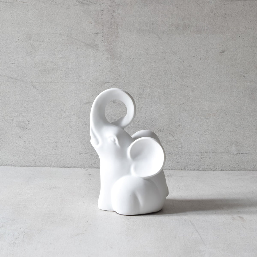 Cooper White Elephant Sculpture (Set of 2)