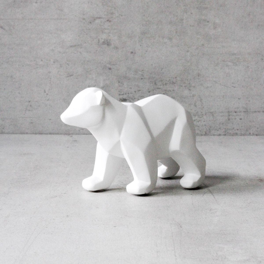 Nathaniel Polar Bear Sculpture - Home Artisan