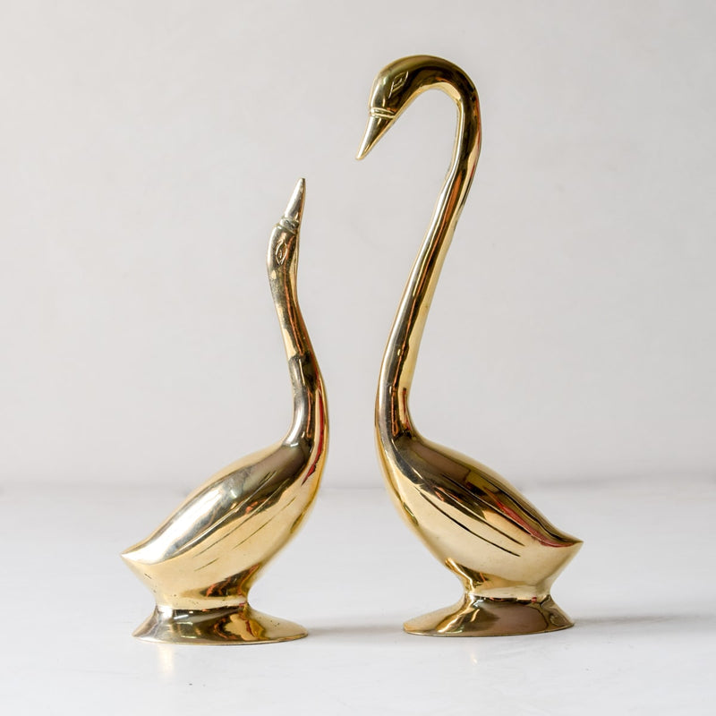 Anna Swan Brass Sculptures - Set of 2