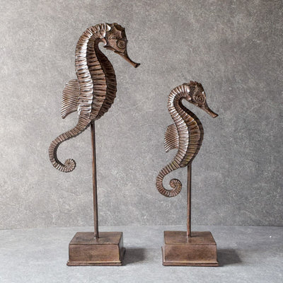 Sea-Horse Sculptures - Set of 2 - Home Artisan