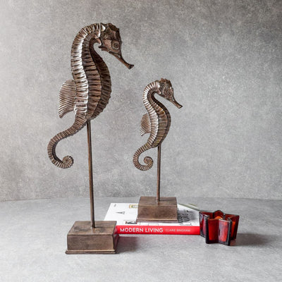 Sea-Horse Sculptures (Set of 2)
