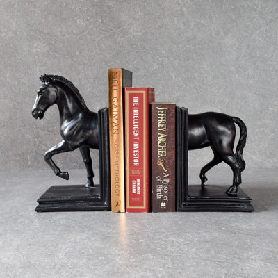 Acorn Horse Bookends