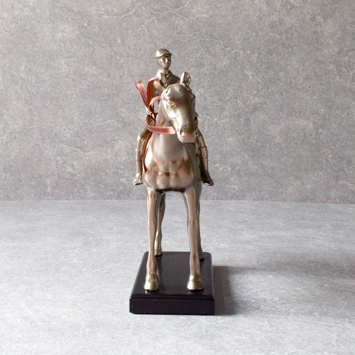 Horse And Rider Sculpture