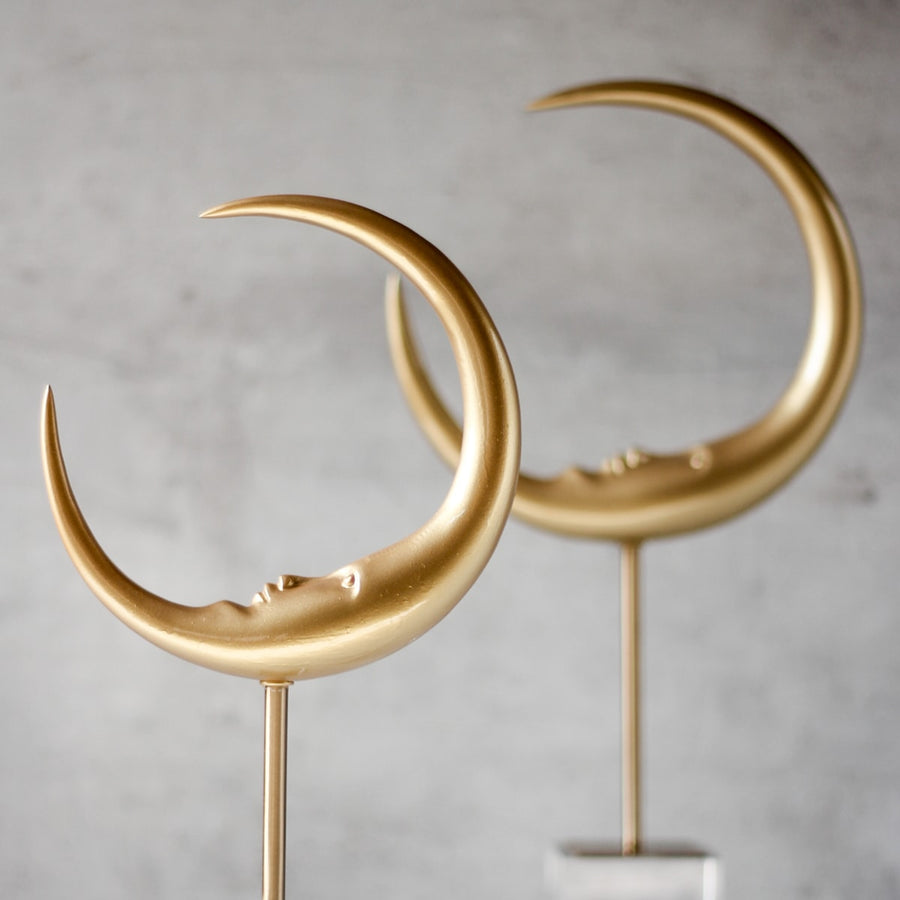 Crescent Moon Face Sculpture