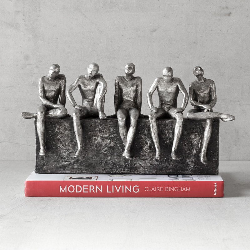 Five Wise Men in Contemplation Sculpture - Home Artisan