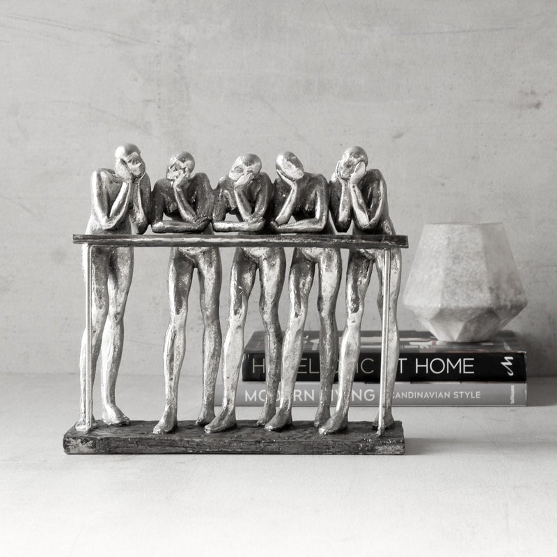 Five Wise Men in Conversation Sculpture - Home Artisan