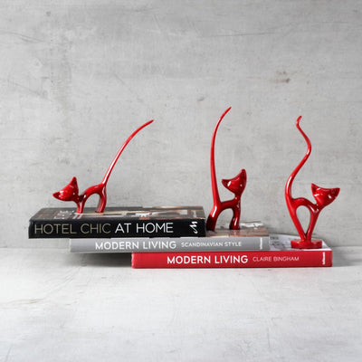 A Trio of Cats Sculpture