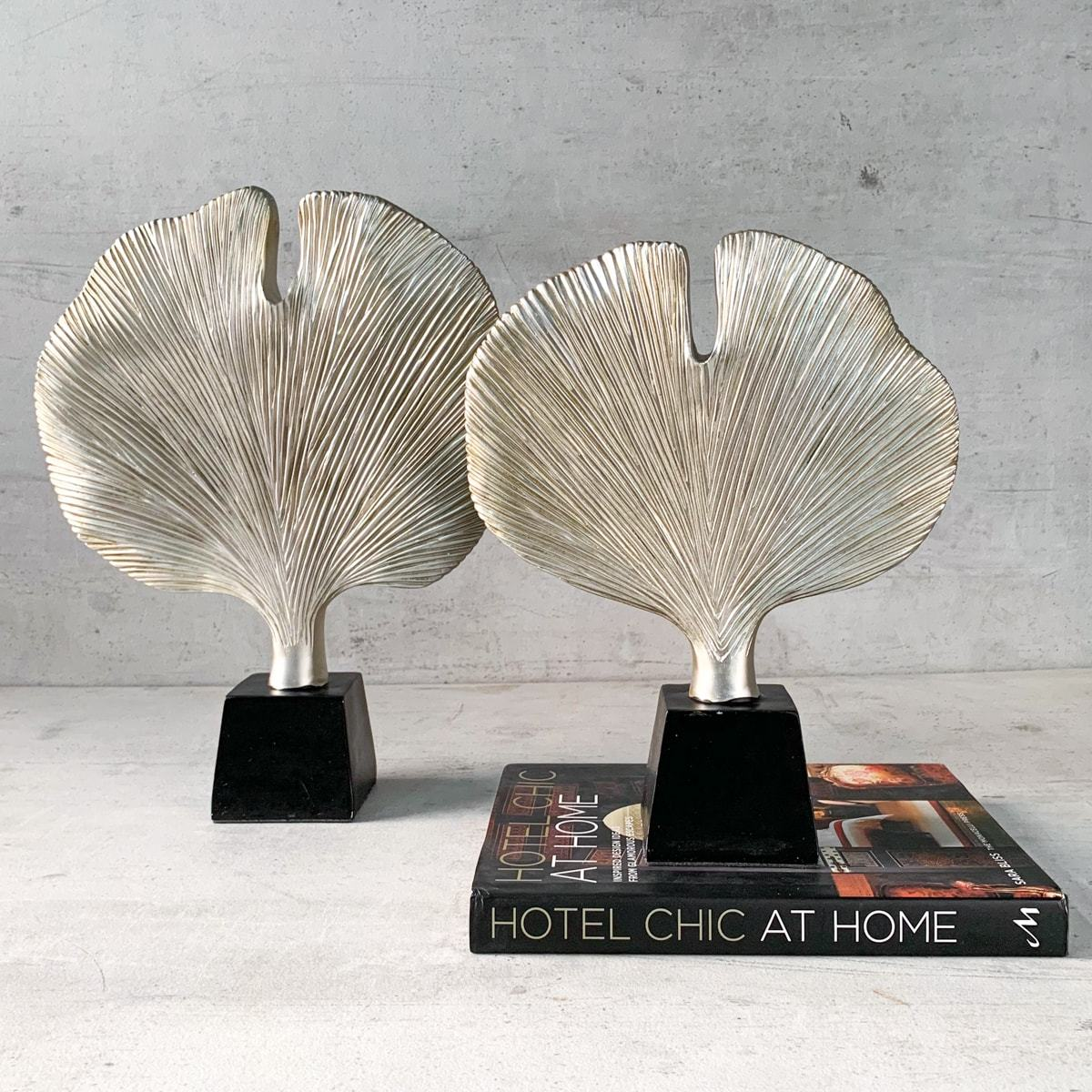 Gingko Leaf Sculptures (Set of 2)