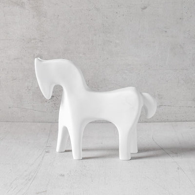 Midas White Horse Sculpture