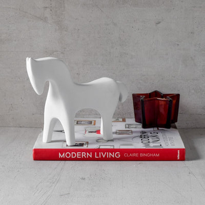 Midas White Horse Sculpture - Home Artisan