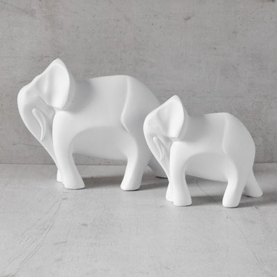 Cara Elephant and Calf Sculpture - Set of 2