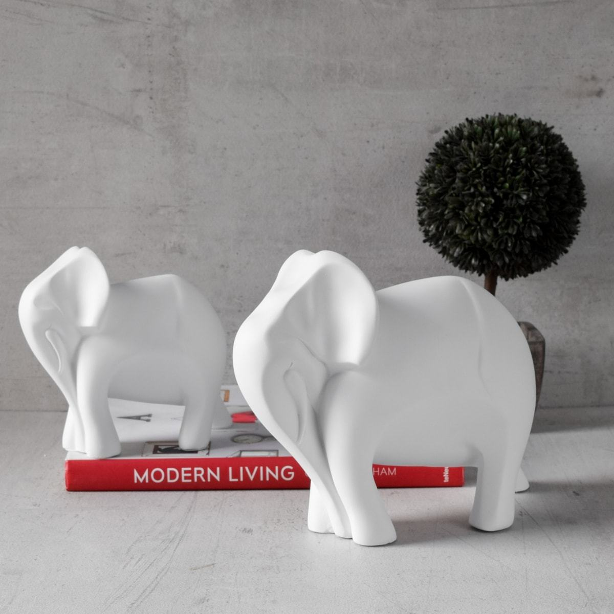 Cara Elephant and Calf Sculpture - Set of 2 - Home Artisan