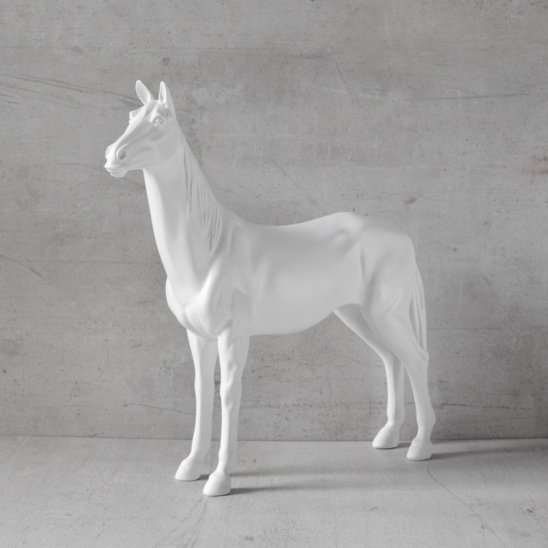 Alastor Horse Sculpture - White
