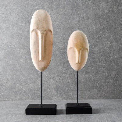 Prometheus Men Sculptures (Wooden) - Set of 2 - Home Artisan