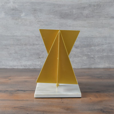Intersection Geometric Metallic Sculpture - Home Artisan
