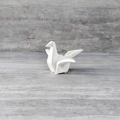 Ceramic Origami Crane Sculpture