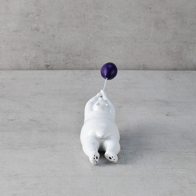 Fuzzy with Purple Balloon Sculpture - Home Artisan