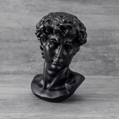 David Bust Sculpture  - Black - Home Artisan