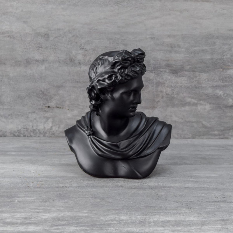 Apollo Bust Sculpture  - Black - Home Artisan