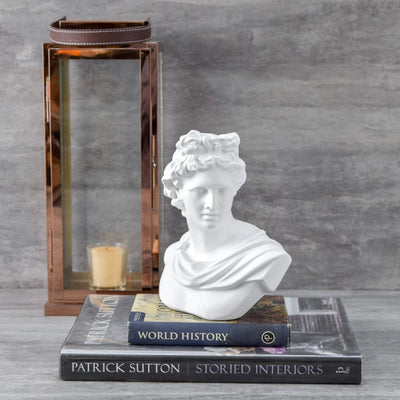 Apollo Bust Sculpture  - White - Home Artisan