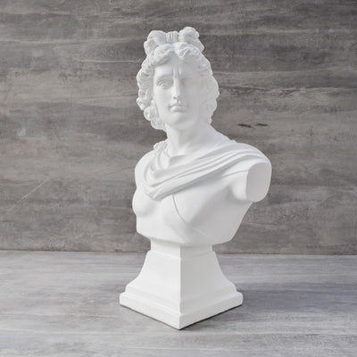 Apollo Bust Sculpture - Large - Home Artisan
