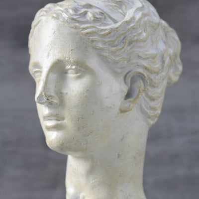 Weathered Hygieia Head Sculpture