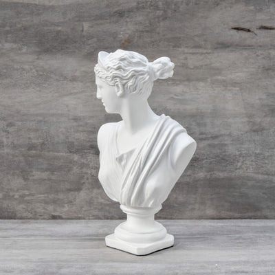 Diana Bust Sculpture - White - Home Artisan