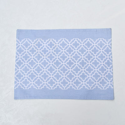 Eileen Blue and White Trellis Placemats with Napkins - Set of 2 - Home Artisan