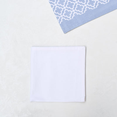 Eileen Blue and White Trellis Placemats with Napkins - Set of 2 - Home Artisan_6