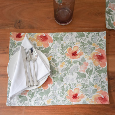 Camila Sage Green Foliage Placemats with Napkins - Set of 2 - Home Artisan_3