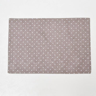 Carolina Mocha and White Polka Dot Placemats with Napkins - Set of 2 - Home Artisan