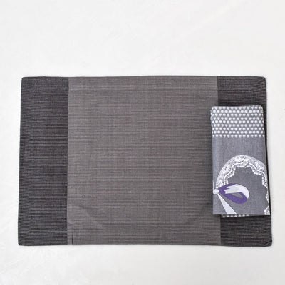 Tessa Grey Placemats with Napkins - Set of 2 - Home Artisan_4