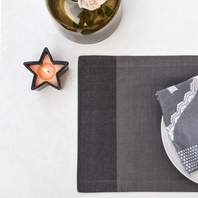 Tessa Grey Placemats with Napkins - Set of 2 - Home Artisan_6