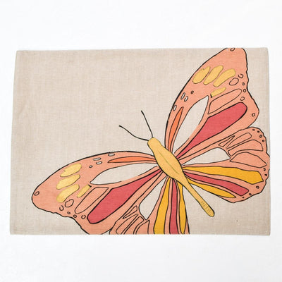 Viona Butterfly Print Placemats with Napkins - Set of 2 - Home Artisan